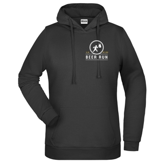 Beer Run Damen Hoody, XS, schwarz