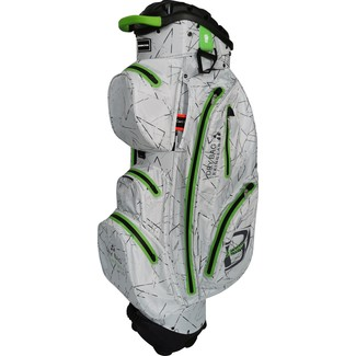 "Golftrolley QO 14 DB WP, 10"", Silver Flash/Lime"