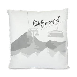 "Individualdruck Kissenbezug inkl. Füllung, Design ""live the moment"""