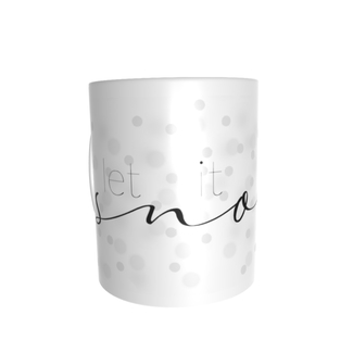 "Individualdruck Tasse Lena, Design ""let it snow"""