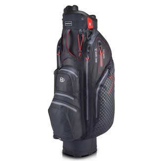 "Golftrollybag QO 9 Lite WP, 9.5"", Black/Red"