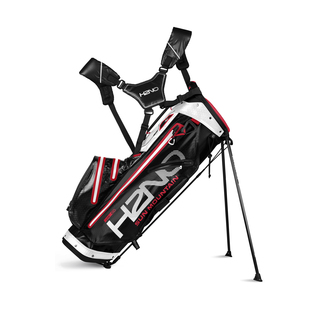 "Golfstandbag H2NO Lite Waterproof, 9.5"", Black/White/Red"