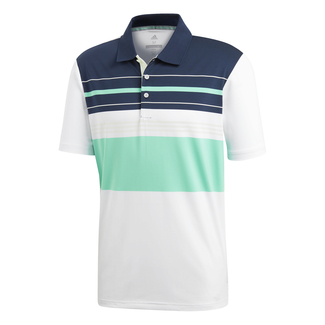Herren-Golfpolo Ultimate 365 Blocked, XL, Blau/Weiß