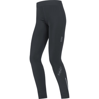 Lange Damen-Lauftights Mythos Lady 2.0 Thermo Tights, 40, Schwarz