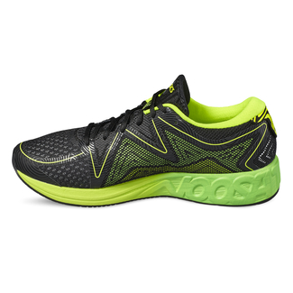 Herren-Joggingschuh NOOSA FF, 8.5, BLACK/GREEN GECKO/SAFETY YELLO